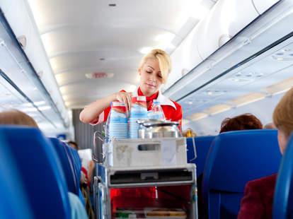 Flight attendant beverage cart