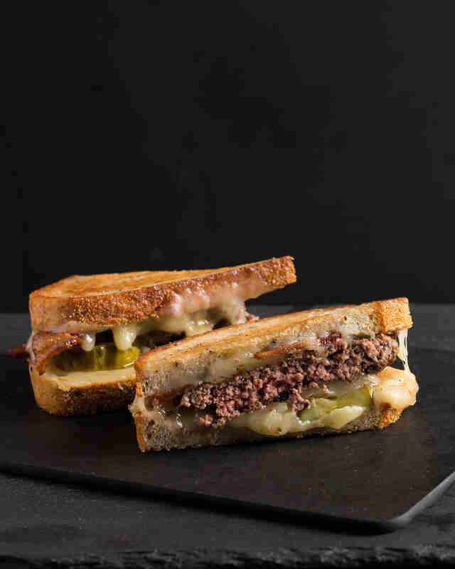 Pickleback Patty Melt