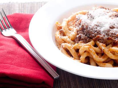 lamb ragu, pasta, meat pasta