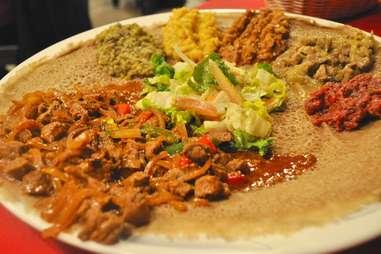 spicy ethiopian food at Axum