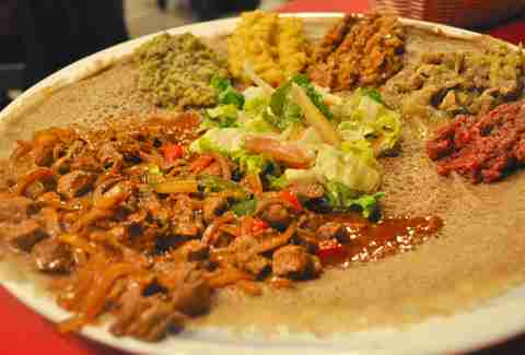spicy ethiopian food at Axum