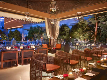 Interior of La Cave wine bar at the Wynn Las Vegas in Nevada
