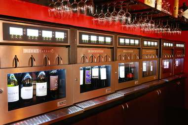 Interior of Double Helix wine bar in Town Square, Las Vegas, Nevada