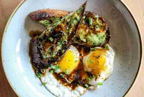 Bernadine's, Houston Brunches, eggs, toast