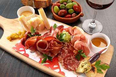 Charcuterie meat and cheese plate at D.O.C.G. at The Cosmopolitan in Las Vegas, Nevada