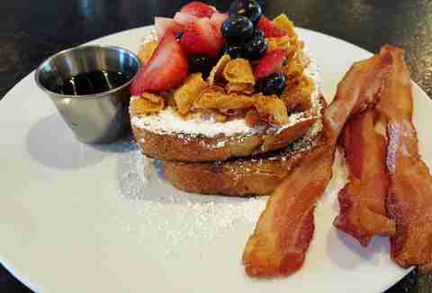 The Del, french toast, bacon, Houston breakfast