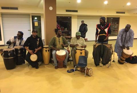 men drumming at afrikmall in denver aurora colorado