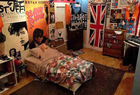 Replica of Ferris Bueller's bedroom for Ferris Fest in Chicago