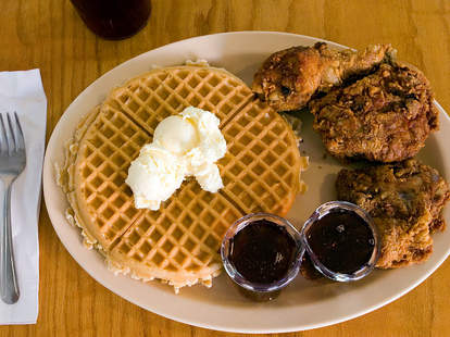 chicken & waffles, souther cooking
