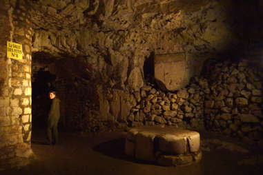 Underground city of Naours, France