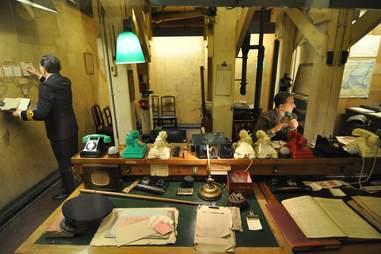 Underground World War II Cabinet War Rooms in the Imperial War Museum in London, England