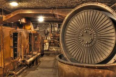 Tempelhof Airport bunker underground in Berlin, Germany