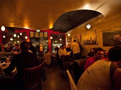 Interior of InnerFog wine bar in San Francisco, California