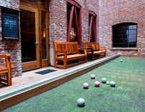 Bocce ball at The Hidden Vine wine bar in San Francisco, California