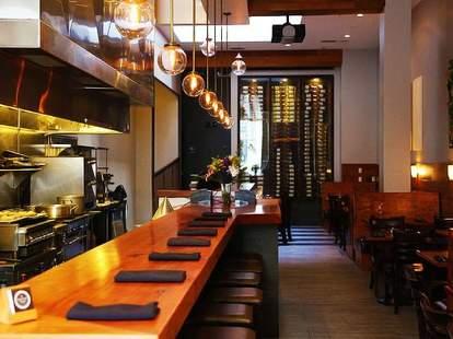 Interior of The Barrel Room wine bar in San Francisco, California