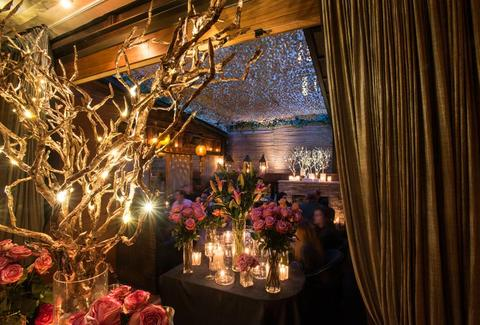 romantic interior ambiance at salinas in chelsea new york city nyc spanish restaurant