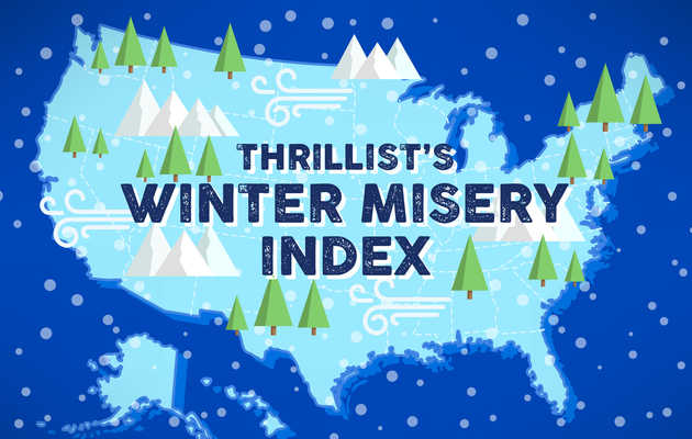 Every State, Ranked by How Miserable Its Winters Are