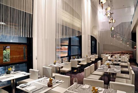 interior of trace fancy restaurant in the w hotel san francisco