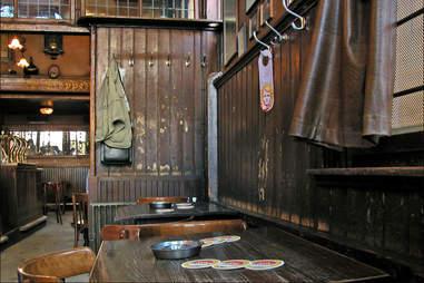 Rustic interior shot of Amsterdam's Hoppe bar