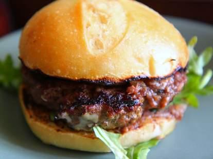 Burger at Skillet Diner in Seattle, Washington
