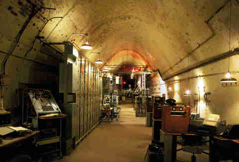 The Repeater Station and labyrinth tunnels from World War II, by Winston Churchill, found beneath the White Cliffs of Dover, England