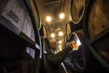 Pilsner Urquell brewery in Plzen, Czech Republic