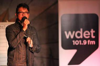 Alex Trajano, station manager at WDET-FM  in Detroit, Michigan