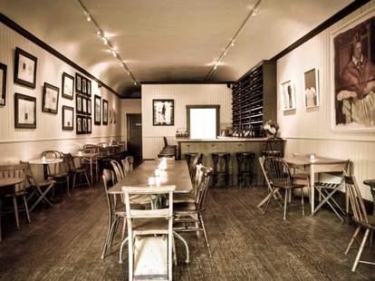 interior of bin 152, a wine bar in charleston south carolina
