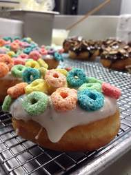 Cereal crusted glazed donut at Wink's