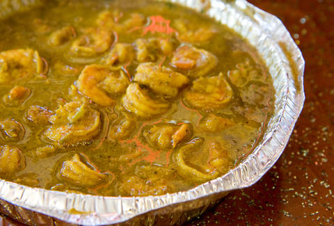shrimp stew close up trini delite queens new york city nyc