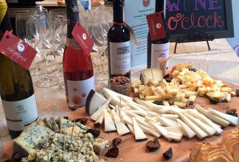 selection of wine and cheese at avondale wine & cheese in charleston