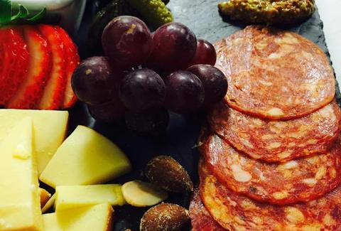charcuterie and cheese at the wine bar in mount pleasant charleston
