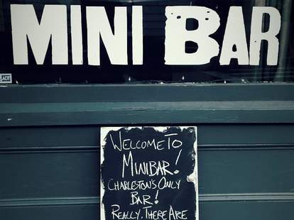 exterior Elliotborough mini bar charleston south carolina wine bar