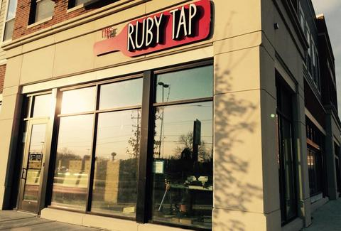 the ruby tap exterior sign milwaukee wisconsin wine bar