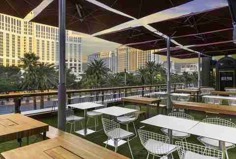 Beer Park in Paris Las Vegas in Nevada