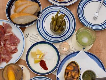 selection of tapas small plates at jarrbar wine bar seattle pike place