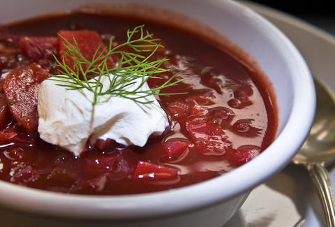 borscht russian food dill sour cream los angeles