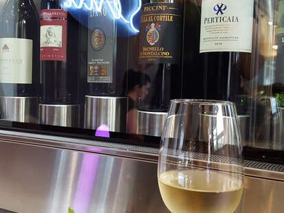 wine dispenser at senti wine bar