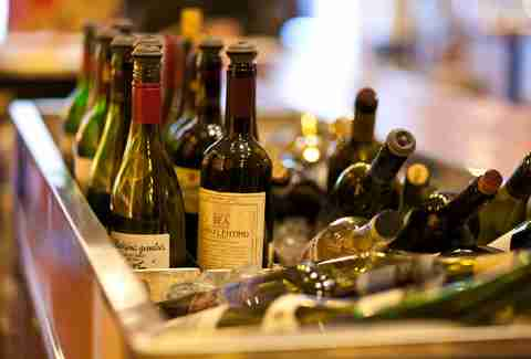 bottles at Corkbuzz Restaurant + Wine Bar in union square