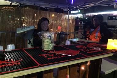 bar, outdoor bar, Oakland First Fridays