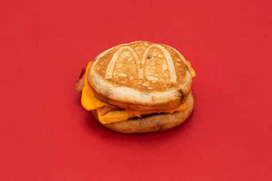 McDonald's bacon, egg, cheese McGriddle