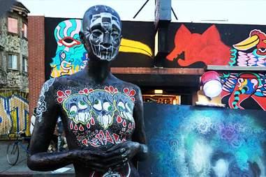 art, statue, Oakland First Friday Festival