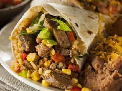 big burrito, beef burrito, Mexican food