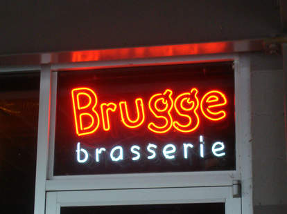 brugge brasserie Indianapolis broad ripple neon sign