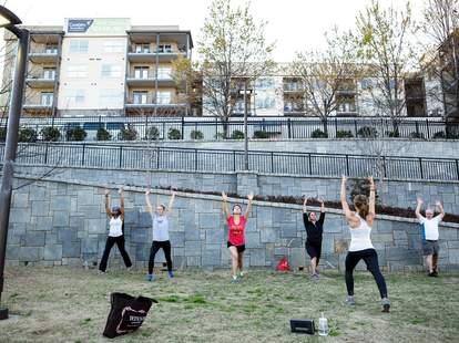 Women exercising at Atlanta Beltline