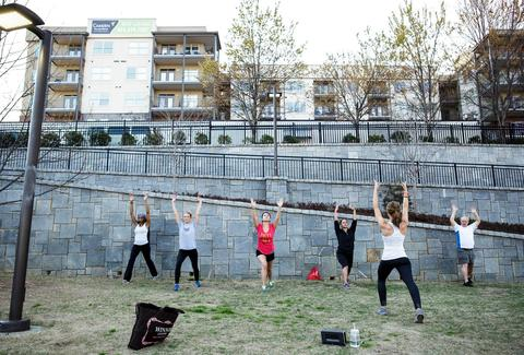 Women exercising at Atlanta Beltline