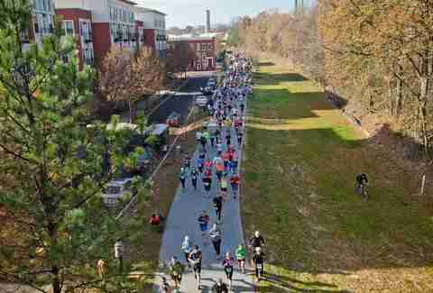 People running along the Atlanta BeltLine
