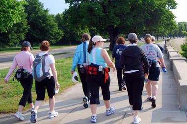 women wearing fanny packs