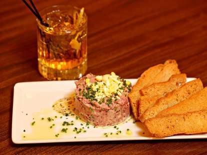 Bin 216, steak tartare, wine bar, Cleveland wine bars