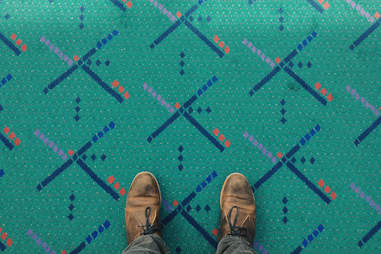 Carpet at PDX airport in Portland, Oregon